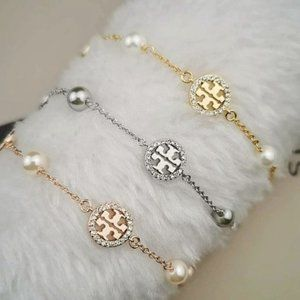 Tory Burch Crystal Pearl Logo Bracelet_31
